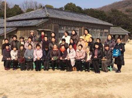 二十四の瞳映画村にて記念撮影(*^_^*)