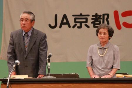 議長を務めていただいた相根勝義さん(左)と、和久真佐代さん。 おつかれさまでした(^o^)