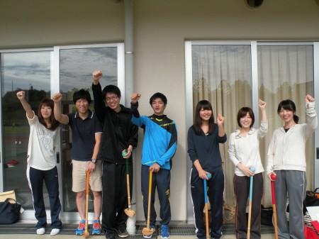 グラウンドゴルフ若手チーム!やる気がみなぎってます(V)o¥o(V)