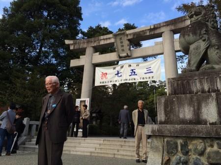 武田信玄が居住した躑躅ヶ崎館跡地の武田神社。