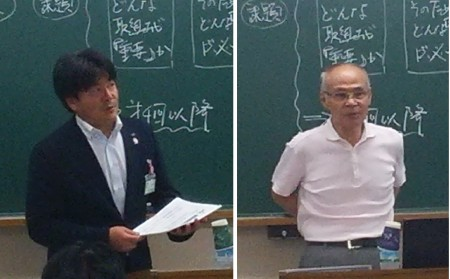 JA全中小池氏(左)と、三重大学石田名誉教授(右)