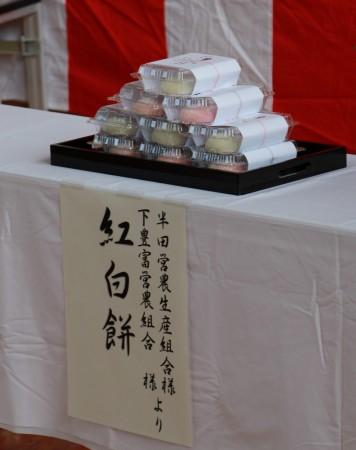 地元で穫れた糯米を使って昨日営農組合さんが作られました(^○^)