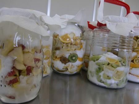 1日1回、手でよく混ぜると、次第に砂糖が溶けて発酵がすすみます!