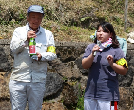 当JA日本酒「丹の国穂まれ」をPRさせてもらいました(^○^)