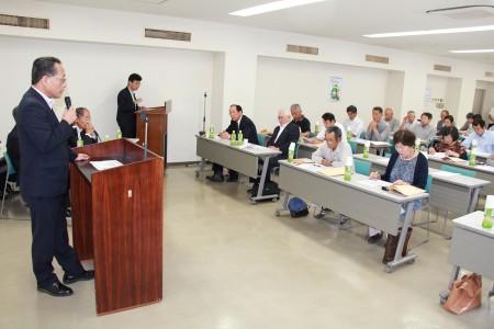 迫沼専務から「JAの概況や、「准組合員総代の役割」について説明させていただきました。