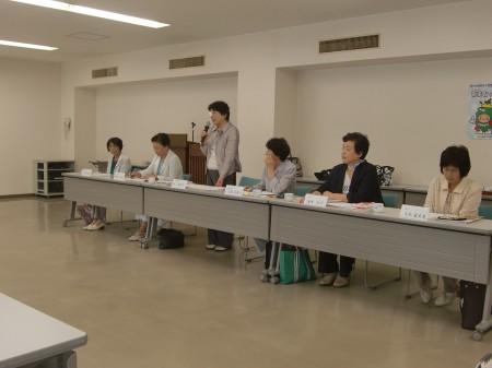 女性部活性化対策の取り組みについて説明をする林佳代子部長