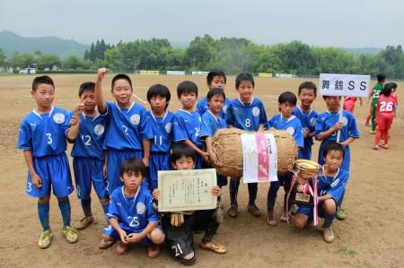 見事優勝した舞鶴少年サッカークラブ(^-^)おめでとうございます!