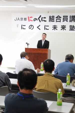 大会議案を説明する山下部長(^_^)