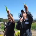 荻野部長から収穫のコツなどを教えてもらいました。