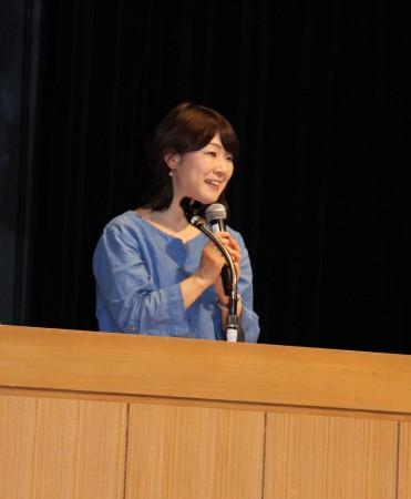 講演はテレビでもおなじみ、小山浩子さんに来ていただきました!