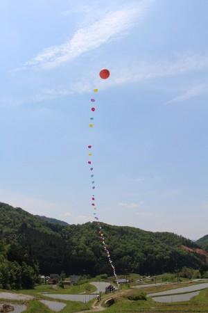 今年はバルーンを飛ばされました(^o^)どこまで飛んで行ったのかな?楽しみです♪