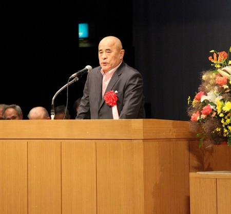 中川会長もかけつけていただき祝辞をいただきました。