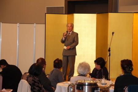 記念講演はアグリジイテイの田村英昭さん。土づくりの重要性を教えていただきました。