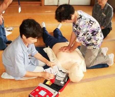 AEDの使い方を習得しました