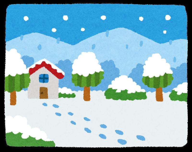 暴風雪に注意!